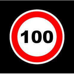 """1325. Наклейка светоотражающая """"Знак ограничение скорости"""" 100 км/ч"""