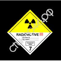 "1337. Наклейка ""Знак КЛАСС 7. Радиоактивные материалы. Категория III"""