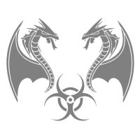 """1359. Наклейка  """"Биологически опасные пресмыкающиеся"""""""