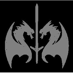 """1364. Наклейка """"Драконы с мечом"""""""