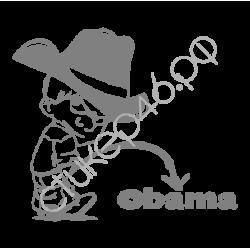"""1395. Наклейка """"Ковбой мочится на Обаму"""""""