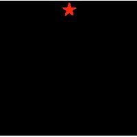 """1447. Наклейка """"Москва гостям не верит"""""""