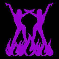 """1451. Наклейка """"Девушки танцующие в огне"""""""