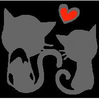 """1452. Наклейка """"Котята мечтающие о любви к хозяевам"""""""