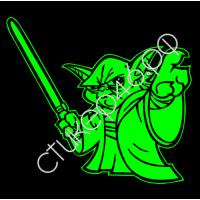 1496. Наклейка светоотражающая Yoda 2