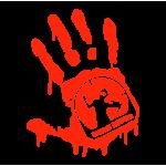 """1563. Наклейка на авто Кровавая рука """"Охотник на Zombie"""""""