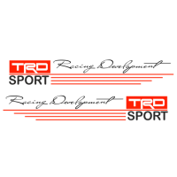 "1602. Наклейка на авто ""Racing Development TRD SPORT"""