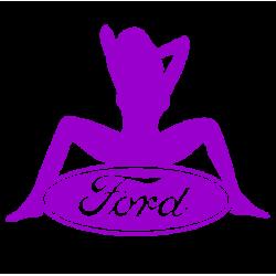 """1603. Наклейка на авто """"Ford Sexy (Форд секси)"""""""