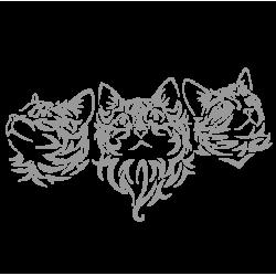"""1615. Наклейки """"Три кота"""""""