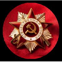 """1620. Наклейка на авто """" Орден Великой Отечественной Войны"""""""
