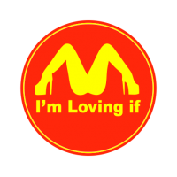 "1633. Наклейки на авто ""Я люблю тебя Макдональдс"""