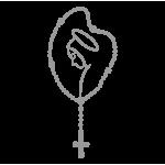 "1636. Наклейки на автомобиль ""Mary Rosary"""