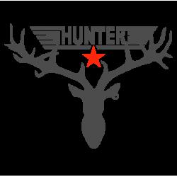 "1682. Наклейка на авто ""Hunter - Охотник"""