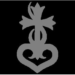 """1708. Наклейка """"Крест с сердцем"""""""
