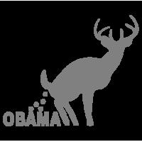 """1713. Наклейка """"Олень какает на Обаму"""""""