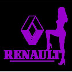 """1735. Наклейка """"Секси Renault"""""""