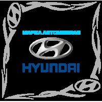 """1800. Наклейка на авто """"Hyundai (Хендай) уголком"""""""