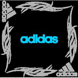 """1806. Наклейка на авто """"Adidas (Адидас) уголком"""""""