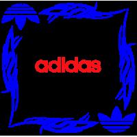 """1807. Наклейка на авто """"Adidas (Адидас) уголком"""""""