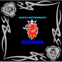 "1813. Наклейка на авто ""Scania (Скания) уголком"""
