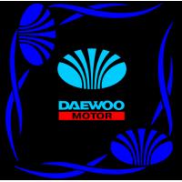 "1815. Наклейка на авто ""Daewoo (Дэу) уголком"""