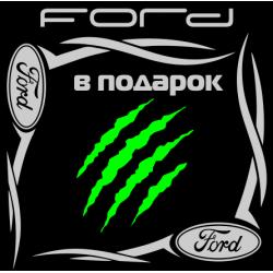 """1816. Наклейка на авто """"Ford (Форд) уголком"""""""