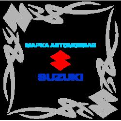 "1819. Наклейка на авто ""Suzuki (Сузуки) уголком"""