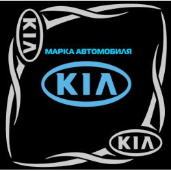 "1820. Наклейка на авто ""KIA (Киа) уголком"""