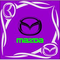 "1824. Наклейка на авто ""Mazda (Мазда) уголком"""