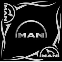 "1826. Наклейка на авто ""Man (Ман) уголком"""