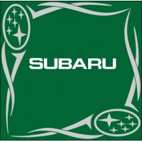 """1827. Наклейка на авто """"Subaru (Субару) уголком"""""""
