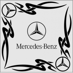 "1829. Наклейка на авто ""Mercedes-Benz (Мерседес Бенц) уголком"""