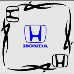 "1830. Наклейка на авто ""Honda (Хонда) уголком"""