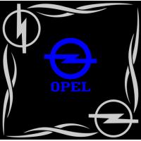 """1831. Наклейка на авто """"Opel (Опель) уголком"""""""