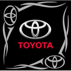 """1832. Наклейка на авто """"Toyota (Тойота) уголком"""""""