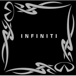 """1834. Наклейка на авто  """"Infiniti (Инфинити) уголком"""""""