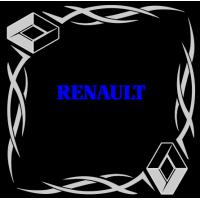 """1837. Наклейка на авто """"Renault уголком"""""""