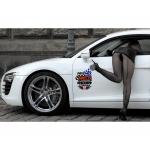 Набор стильных наклеек на дверь автомобиля